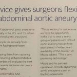 Newer device gives surgeons flexibility in repairing abdominal aortic aneurysms